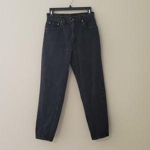 Levi's 550 Black High Waist Tapered Leg Mom Jeans